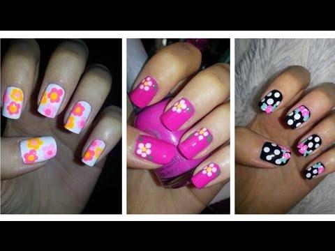 ✿ Spring Nail Art ✿ Three Easy Flower Designs!