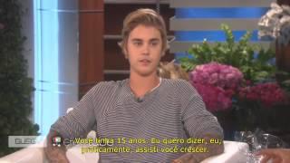 Justin Bieber Video - Justin Bieber Interview on The Ellen Show - 2015 (Legendado PT-BR)