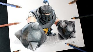 Como dibujo al  Megacaballero de Clash Royale | How to draw Mega Knight