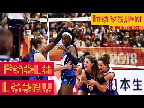 Paola Egonu 36 POINTS ; Best score of the match ITA VS JPN  WCH2018 HIGHLIGHTS