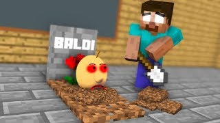 Monster School : RIP Baldi - Minecraft Animation