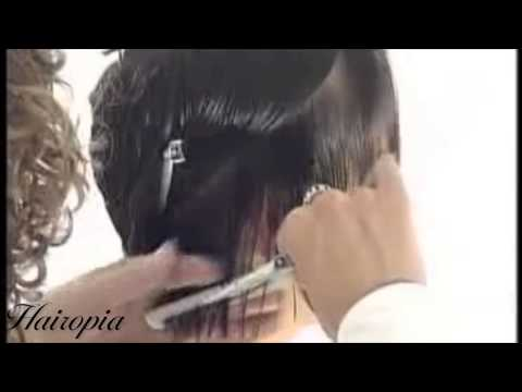 Hairopia 4: Very long dark hair cut to a short style - haircut makeover