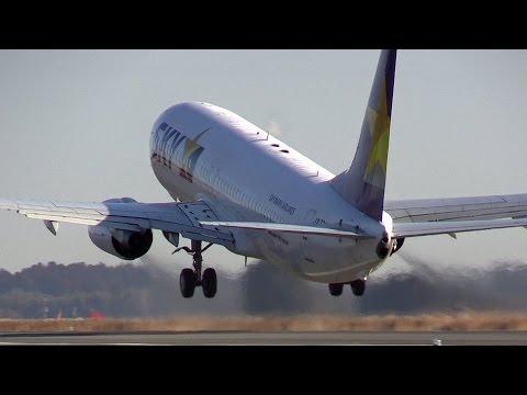 エンジンスタート爆近離陸!!! Skymark Airlines Boeing 737 JA73NC Ibaraki Airport takeoff