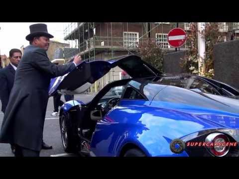 £MILLION Pagani Huayra with BROKEN Gullwing Door!!!