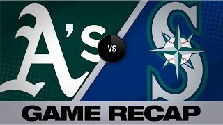 Chapman, Manaea lead A's to 3-1 victory | A's-Mariners Game Highlights 9/26/19