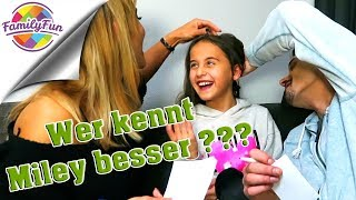 WER KENNT MILEY BESSER ??? Mama vs. Papa | Family Fun