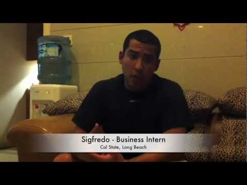 Intern Profile: Sigfredo Business Internship in Shanghai (Español)