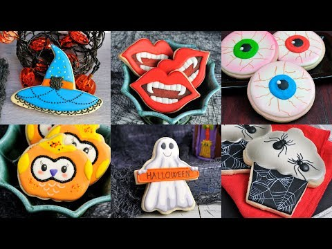 AMAZING HALLOWEEN COOKIES, VAMPIRE, WITCH, GHOST, SPIDERS, OWLS by HANIELA'S - YouTube