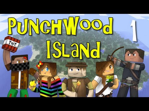 Punchwood Island E01 Shipwrecked Minecraft Family Survival