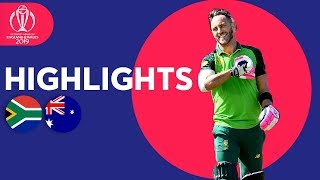 South Africa vs Australia - Match Highlights | ICC Cricket World Cup 2019