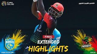 Extended Highlights | Saint Lucia Kings v St. Kitts & Nevis Patriots | FINAL | CPL 2021
