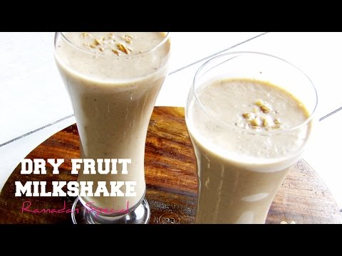 Dry fruit milkshake | Healthy Ramadan Recipes | Hungry for Goodies