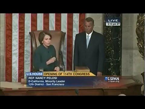 Pelosi Passes Gavel to Speaker John Boehner