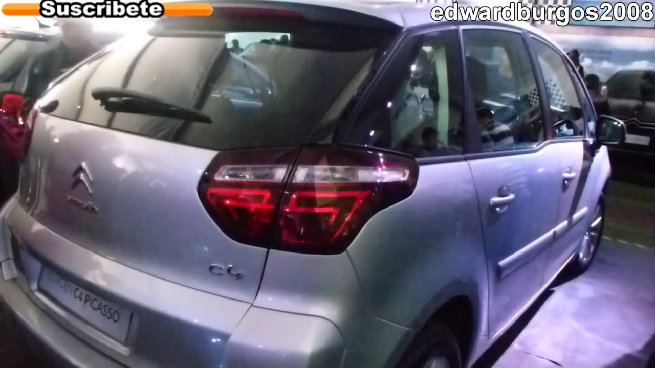 citroen c4 picasso 2012 2013 colombia brasil mexico argentina video de carros auto show full hd. Black Bedroom Furniture Sets. Home Design Ideas