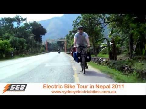 Nepal Tour On Bionx Ezee Daahub Electric Mountain Bicycle - Highlight Reel video