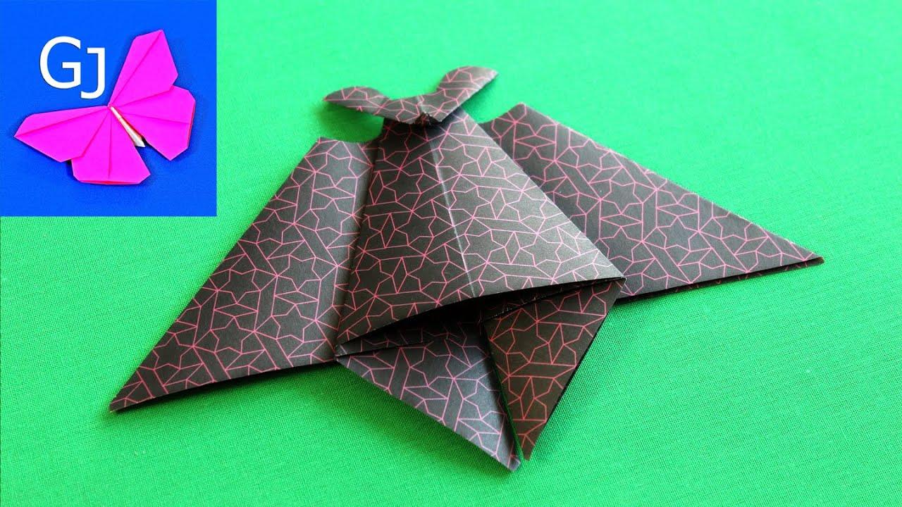 Мультик бумаги как сделать летучую мышь