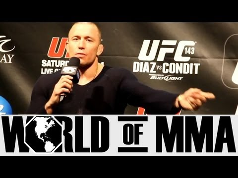 Georges St. Pierre (GSP) Thinks Nick Diaz Has Mental Problems
