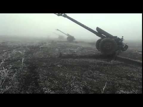 "D-D-30 artillery DPR near Debaltsevo, Ukraine. ""We observe the ceasefire"""
