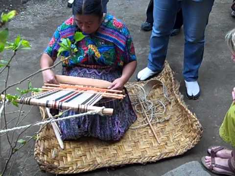 Lidia Lopez Teaching the Art of Backstrap Loom Weaving