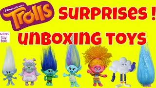 Dreamworks Trolls Surprise Toys Blind Bags Series 7 6 4 3 Tins Collection Eggs Chupa Chups Opening