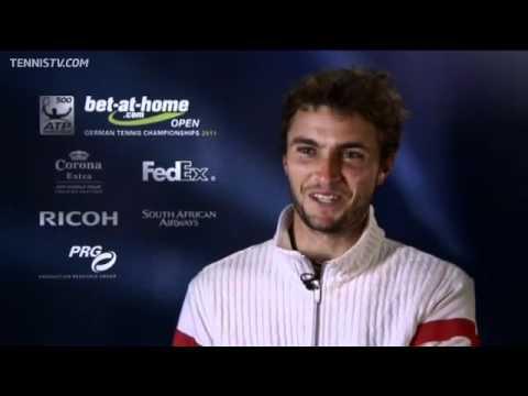 シモン Discusses Win Over モンフィス In Hamburg