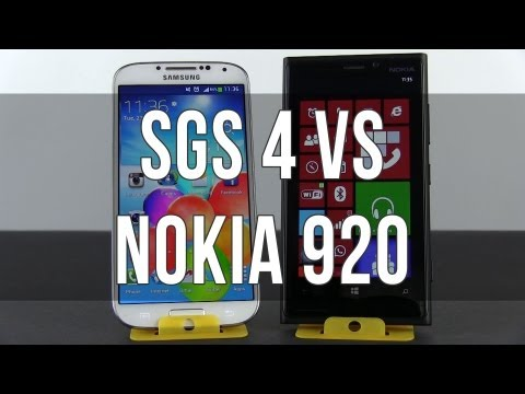 Samsung Galaxy S4 vs Nokia Lumia 920 full comparison review