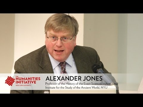 Alexander Jones - Measuring and Mapping Space: A Panel Discussion