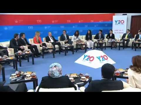 Russian President met with Y20 Russia 2013 Summit participants