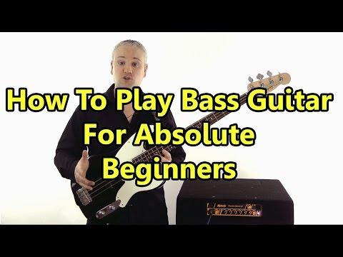 Beginner Bass Guitar Lesson - First Lesson: Absolute Basics video
