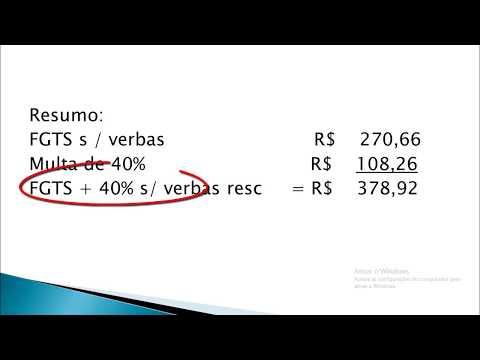 Como Calcular FGTS + 40% sobre Verbas rescisórias
