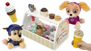 Paw Patrol Eats ICE CREAM Skye Marshall Chase Learn Colors for Children Colours