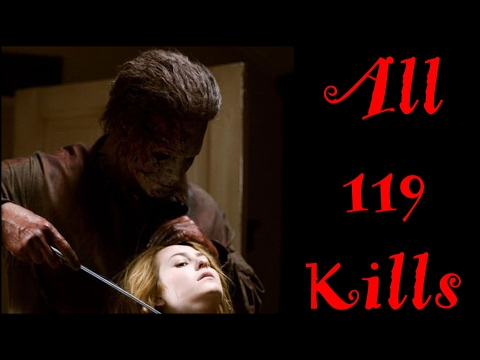 All 119 Michael Myers Kills 1978-2009 (все убийства Майкла Майерса). Halloween