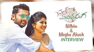 Nithin and Megha Akash interview about Chal Mohan Ranga | Nithin, Megha Akash