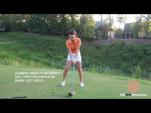 [Golf with Aimee] Aimee's Golf Lesson 032: Throw Through to Drive it Farther!