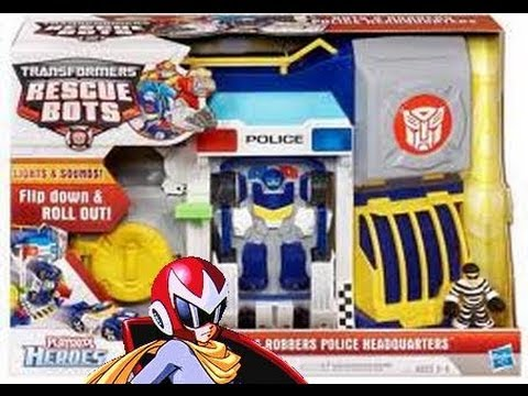 Protoman Reviews: Transformers Rescue Bots Bots and Robbers Police Headquarters w/ Chase