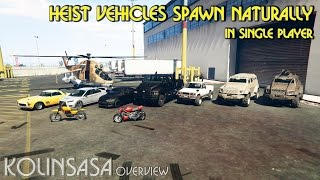 GTA 5 Heist Vehicles Spawn Naturally in Single Player