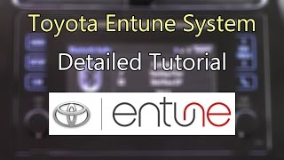 Toyota Entune System 2016 Detailed Tutorial: Tech Help