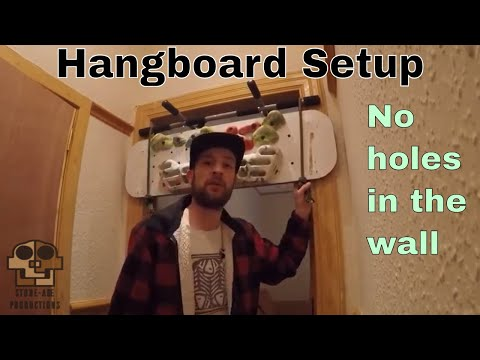 Installing a Hangboard/Fingerboard at home without drilling holes in the wall