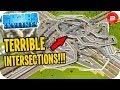 Fixing HORRENDOUS Intersections that made me Cry in Cities: Skylines Fix Your City