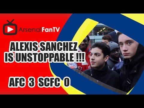 Alexis Sanchez is Unstoppable !!! - Arsenal 3 Stoke City 0