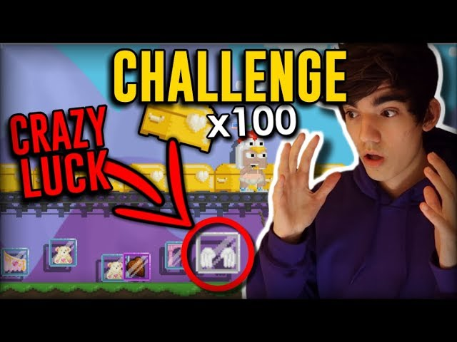 [CRAZY LUCK] 100 GBC CHALLENGE (ft. ZStep) - Growtopia