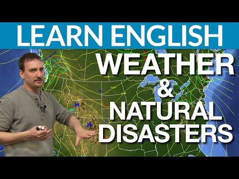 Learn English Vocabulary – Weather and natural disasters