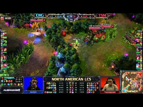 Team Dignitas (DIG) vs Team Solo Mid (TSM) - League of Legends LCS 2013 NA Spring W10D3