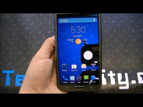 Samsung Galaxy Note 2 with Android 4.3 Jelly Bean CM10.2