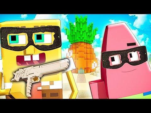 Спанч БОБ и ПАТРИК стали ГРАБИТЕЛЯМИ в МАЙНКРАФТ   Приколы Minecraft