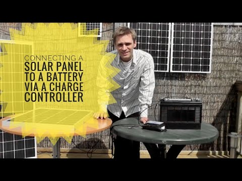 How to connect an AKT Solar panel to a battery via a charge controller