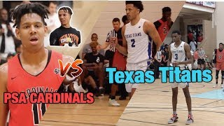 BRONNY JAMES, YOUNG BULL, AND Cole Anthony😱 Watch Texas Titans vs PSA CARDINALS !!!