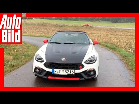 AUTO BILD Quick Shot: Fiat Abarth 124 Spider / 2016 / Kleiner Italo-Kraftprotz! / Review / Test