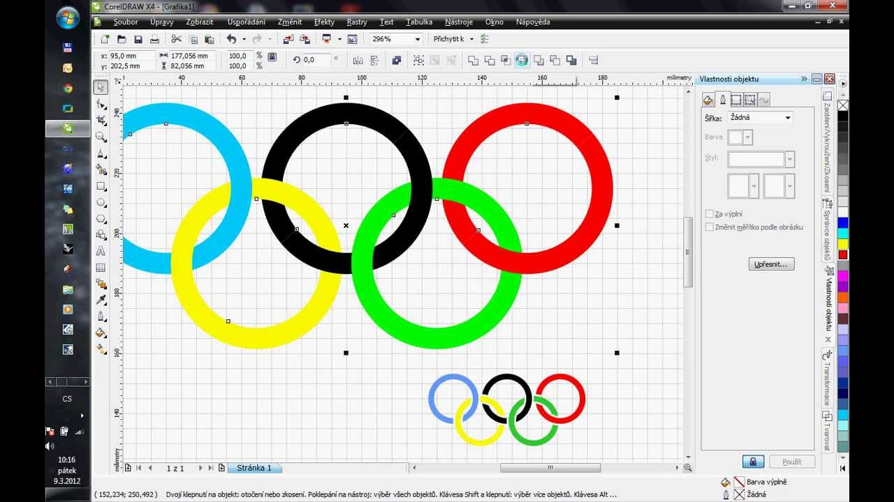 Corel Draw X4 How To Draw Olympic Rings Youtube