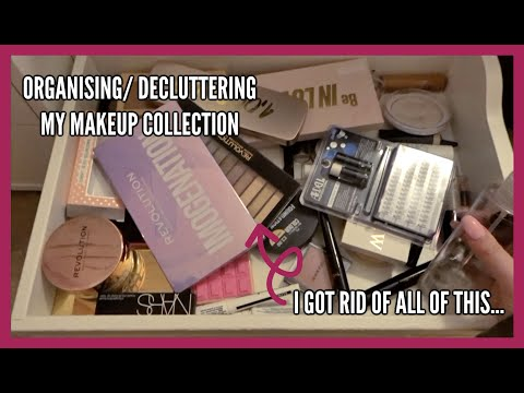 ORGANISING/DECLUTTERING MY MAKEUP COLLECTION! | makeupwithalixkate